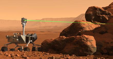 Laser Beam Rover