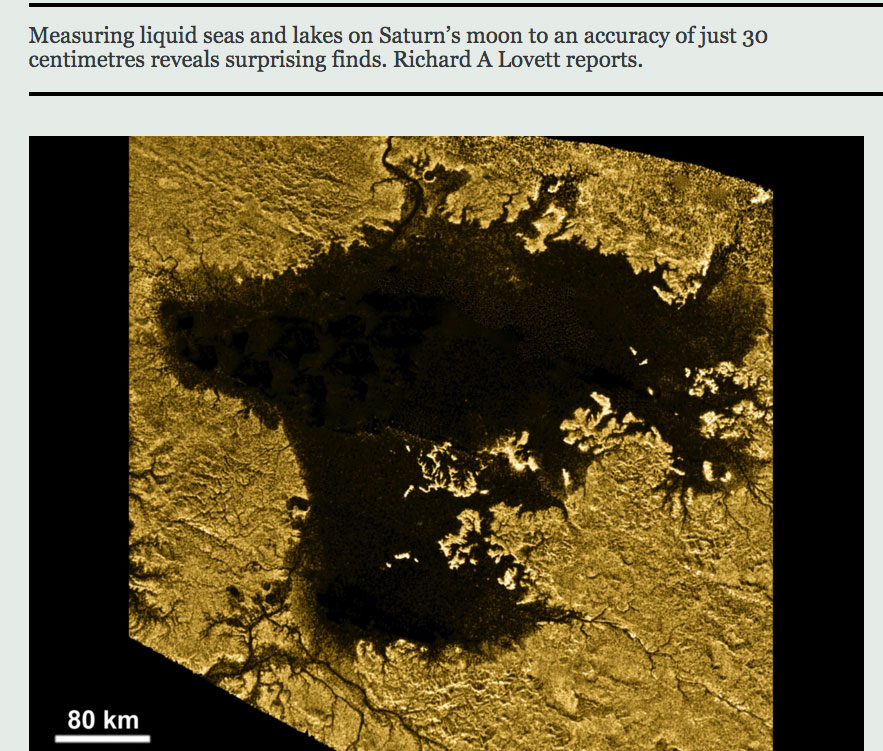 The seas of Titan communicate with each other