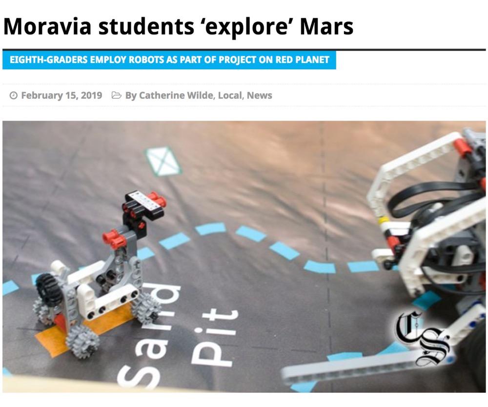 Moravia students 'explore' Mars