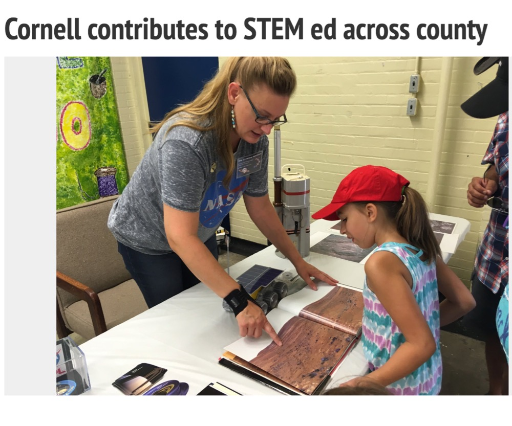 Cornell contributes to STEM ed across county
