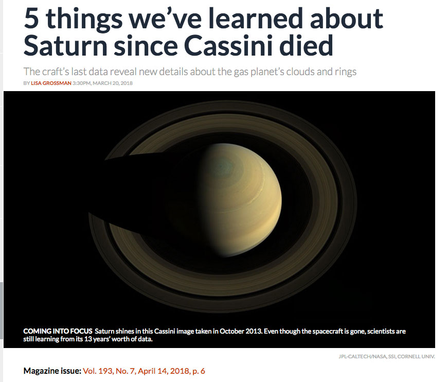 5 things we've learned about Saturn since Cassini died