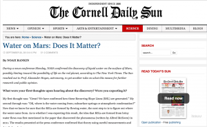 Water on Mars Article