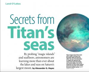 Secrets from Titan's Seas