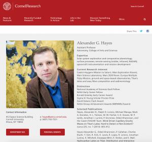 Researcher Feature- Cornell Research, November 2015
