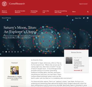 Saturns Moon, Titan: An Explorer's Utopia- Cornell Research, November 2015