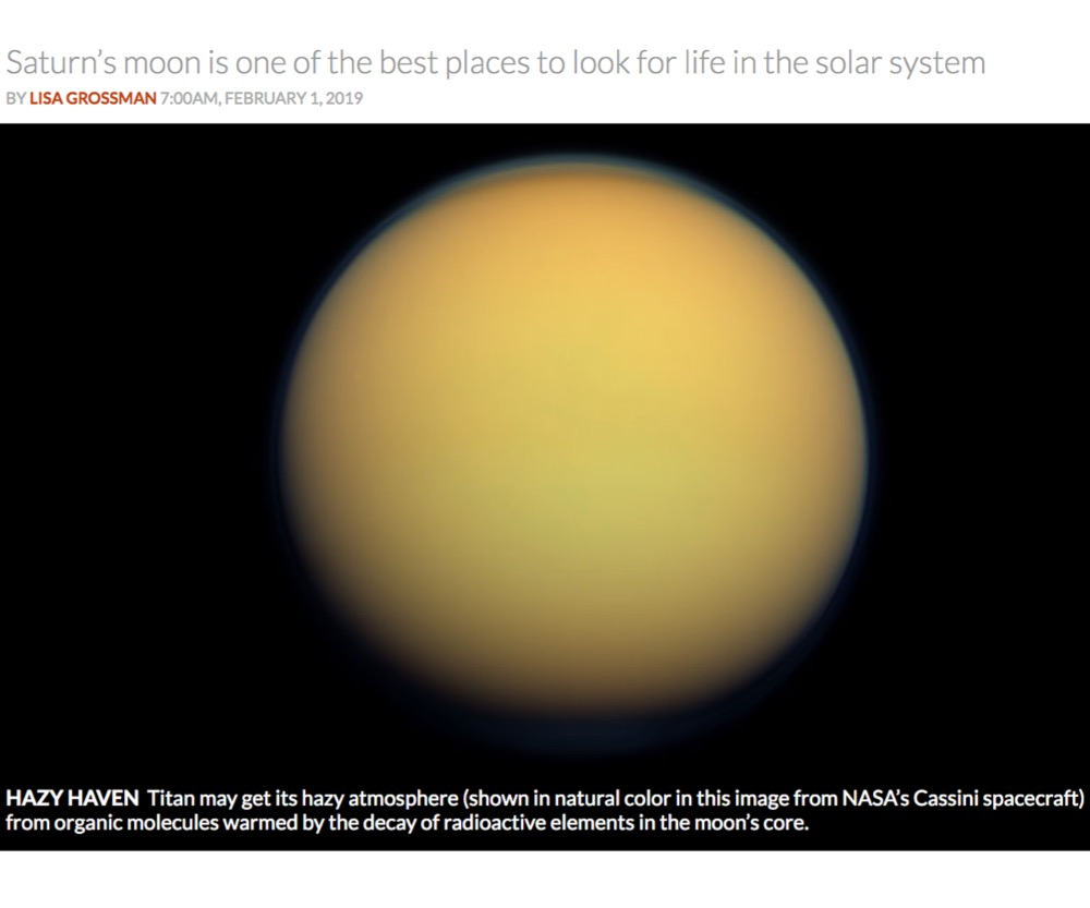 Titan's oddly thick atmosphere may come from cooked organic compounds