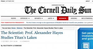 Cornell Daily Sun Article October 2014