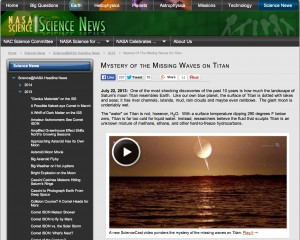 Mystery of the Missing Waves on Titan: NASA Science Podcast July 2013