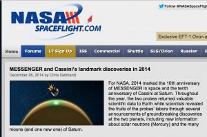 Messenger - Cassini Landmark Discoveries of 2014 - NASA Spaceflight, December 2014