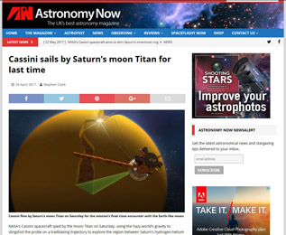 Cassini sails by Saturns moon Titan for last time
