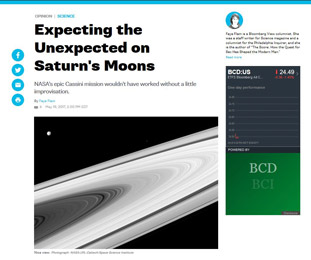 Expecting the Unexpected on Saturns Moons