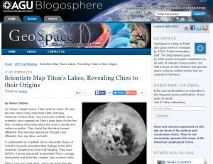 Scientists Map Titans Lakes, Revealing Clues to their Origins - American Geophysical Union, December 2015