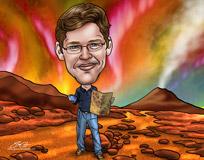 caricature of Nicholas Kutsop